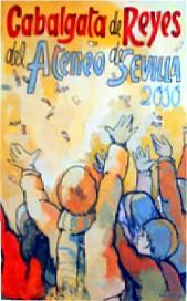Cartel anunciador de la Cabalgata de Reyes 2010. Obra del catedrático de la Facultad de Bellas Artes de Sevilla, Gonzalo Martínez Andrades